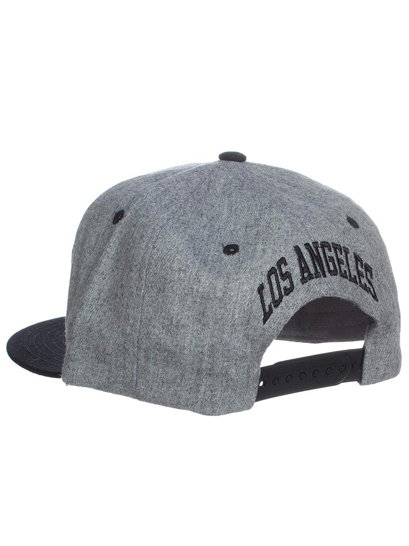 cb29580bf673c Amazon.com  American Cities Los Angeles Block Letters Flat Bill SnapBack  Cap Hat Snap Back  Clothing