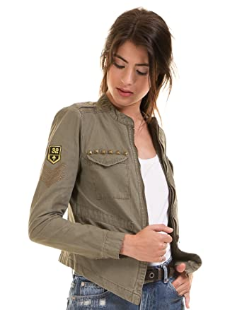 40fa18204b ONLAUSTIN NEW CARGO JACKET PNT BJ. CHAQUETA MUJER MILITAR TACHUELAS Y  PARCHES. (42