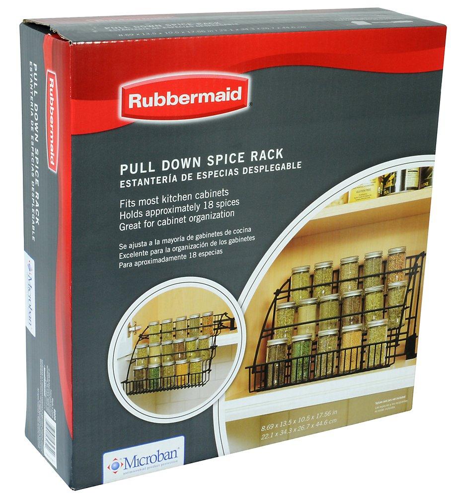 Amazon.com: Rubbermaid Pull Down Spice Rack, FG802009: Kitchen ...