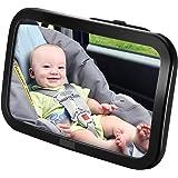 Espejo Retrovisor Coche de VicTsing para Vigilar al Bebé en el Coche, 360° Ajustable Irrompible Interior Espejo Coche…