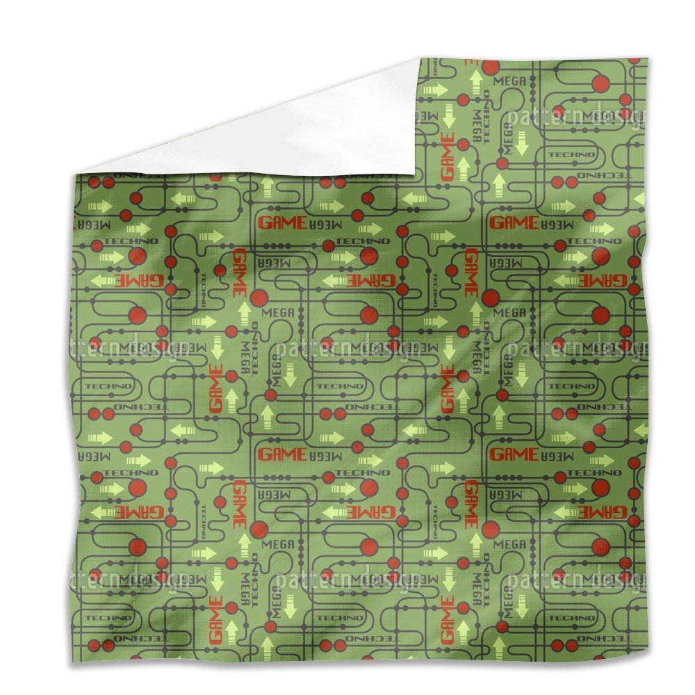 Circuit board Flat Sheet: King Luxury Microfiber, Soft, Breathable