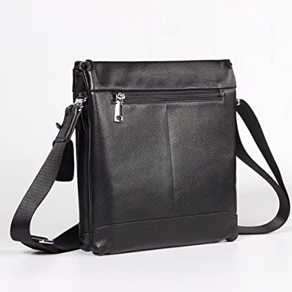 2ad0696b3944 Image Unavailable. Image not available for. Color  NHGY Men s leather  single shoulder bag ...