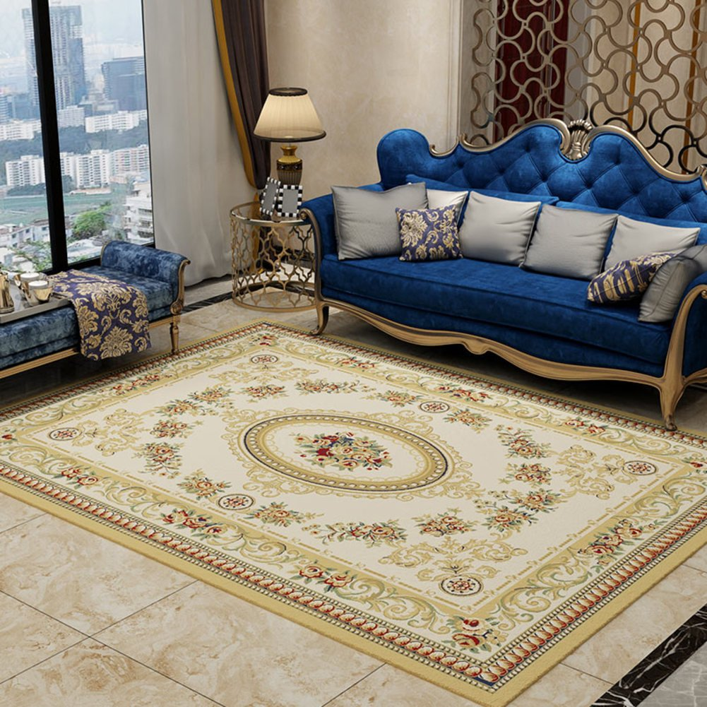 European-style living room carpet Sofa Coffee table carpets Bedroom full shop [bedside] European household Simple Modern mat-A 63x91inch(160x230cm)