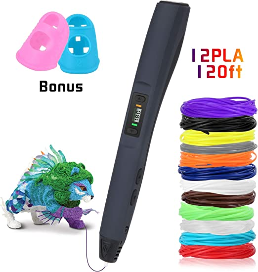 Pluma de impresión 3D, Uzone 3D Pluma con 12 Colores Filamento ...