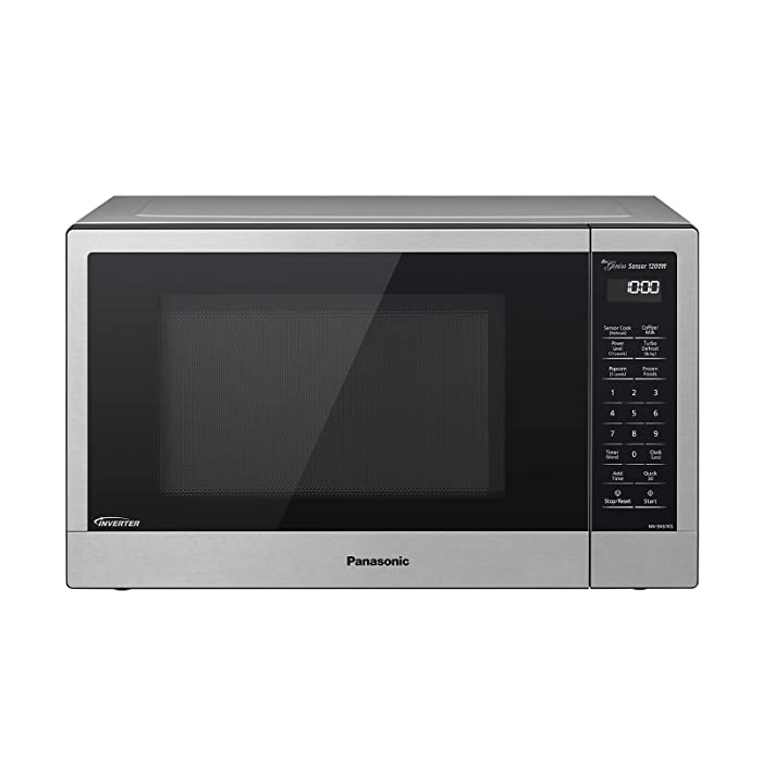 Panasonic Compact Microwave Oven with 1200 Watts of Cooking Power, Sensor Cooking, Popcorn Button, Quick 30sec and Turbo Defrost - NN-SN67KS - 1.2 cu. ft (Stainless Steel / Silver)