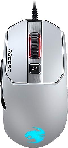 Roccat Kain 122 Aimo RGB Gaming Mouse (16.000 dpi Owl-Eye Sensor, 89G Ultra-Light, tecnologia Titan Click) Bianco