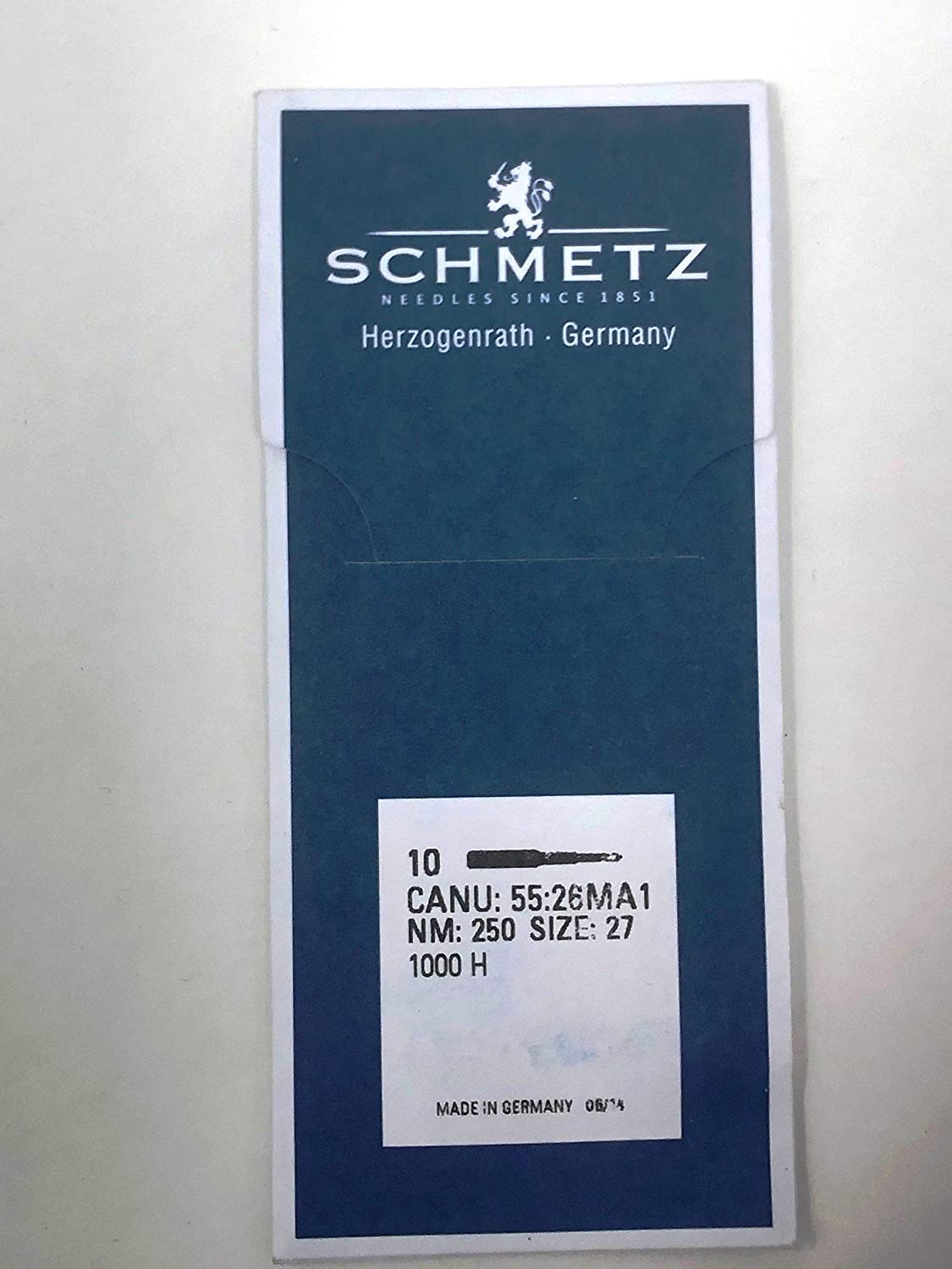 SCHMETZ 1000 H Industrial Needles Sizes 27 280 OR Pack Cash special price 250 o Tampa Mall 28