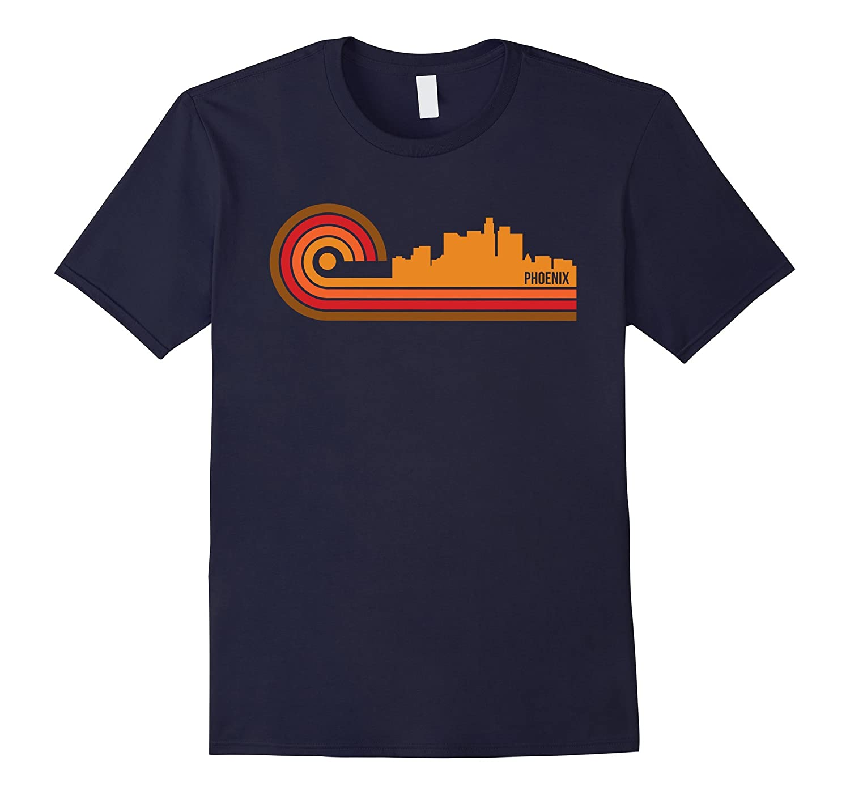 Retro Style Phoenix Arizona Skyline T-Shirt-BN