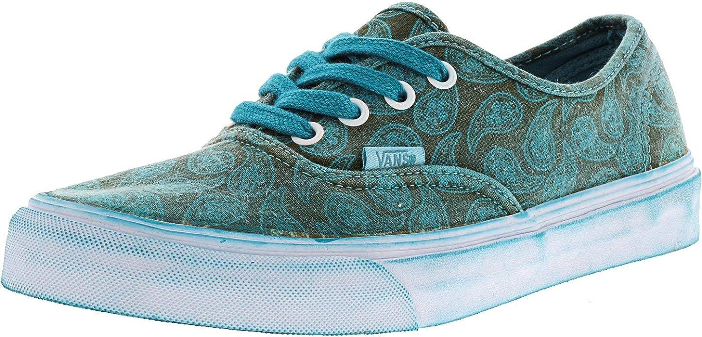 Vans Authentic Sneakers Damen Herren Unisex Grün Overwash Türkis