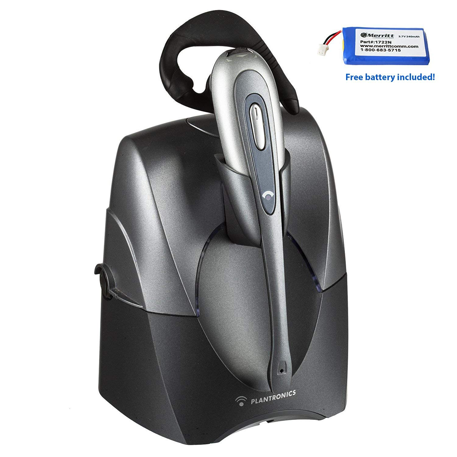 Plantronics CS55 Wireless Headset System With Free Spare Merritt Battery- Lifter Not Included (Certified Refurbished)