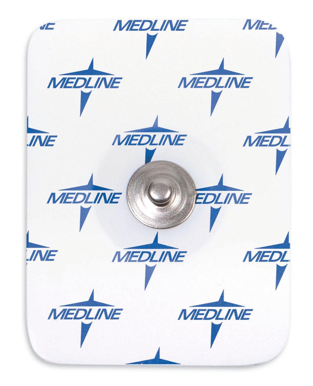 Medline MDSM611550CT MedGel General Monitoring Foam Electrodes, White (Container of 1000)