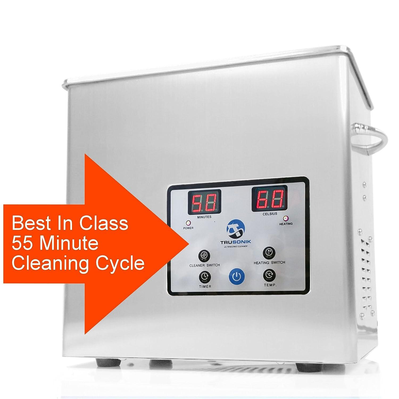 Amazon.com: TruSonik - Limpiador ultrasónico digital de 2,5 ...