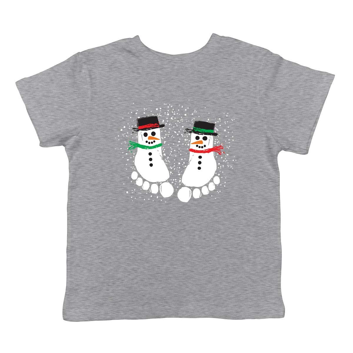 SpiritForged Apparel Snowman Footprint Painting Infant T-Shirt