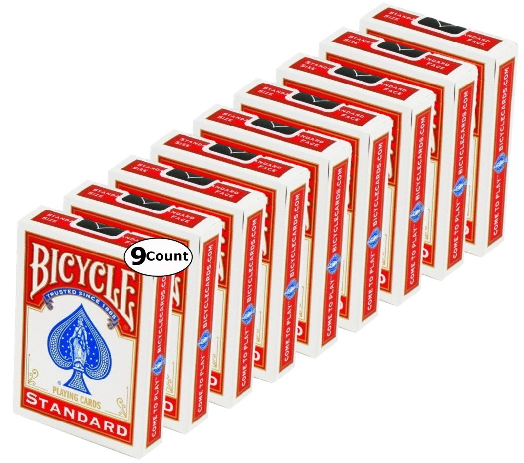 Bicycle Standard Face, Playing Cards Deck, 18 Packs (Red & Blue Color) by Bicycle (Image #4)