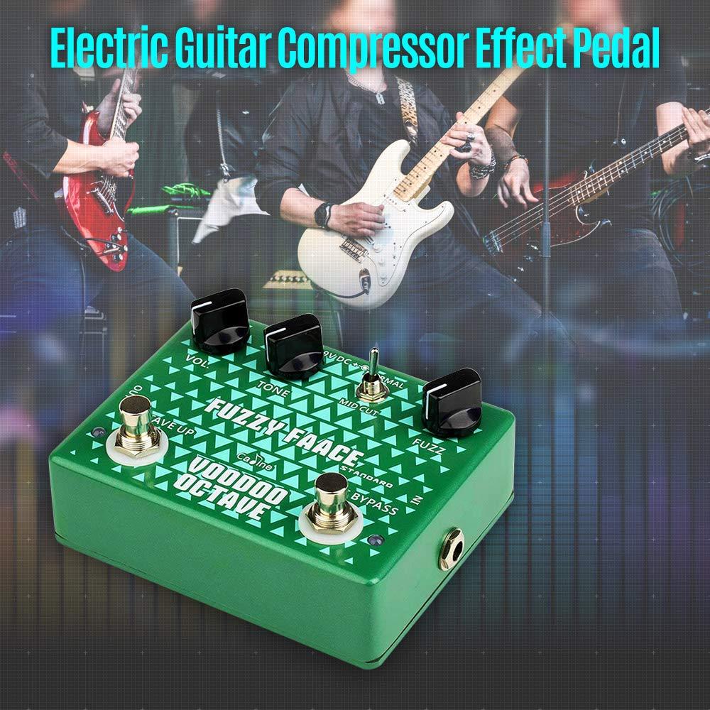 Festnight Octave Fuzz Efecto Pedale de Guitarra Eléctrica, Guitarra True Bypass Compresor Effect Pedal con Cable de Batería: Amazon.es: Instrumentos ...