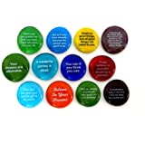 Destiny Stones, 12 Glass Stones To Help You Create Your Own Future. Encouraging and Motivational Messages on Beautiful…