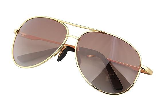 Sonnenbrille Herren Pilotenbrille Polarisiert UV Schutz Aviator Brille mit Metallrahmen Gold CbkaxPfL8