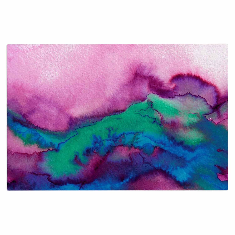 2 x 3 Floor Mat Kess InHouse EBI Emporium Winter Waves 2 Pink Watercolor Decorative Door