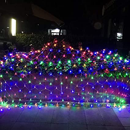 Low Voltage Christmas Lights.Lyhope 12ft X 5ft 360 Led Decorative Net Lights 8 Modes Low Voltage Mesh Fairy Christmas Lights For Xmas Trees Bushes Wedding Garden Outdoor