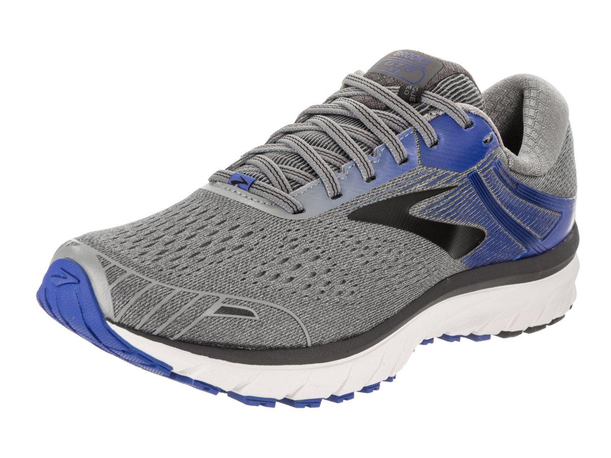 Brooks Mens Adrenaline Running Sneaker, Grey/Blue/Black, 10.5 D(M) US
