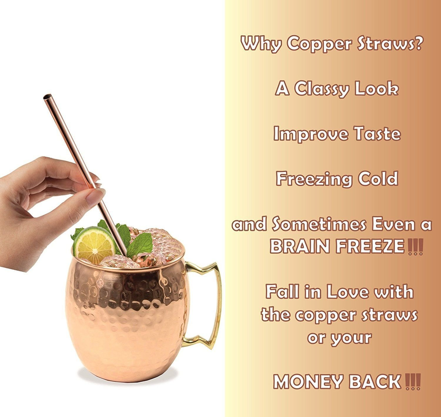 Hammered Moscow Mule Copper Mugs set 18-Ounce (Pack of 4) 4 Straw Free,: Amazon.es: Hogar