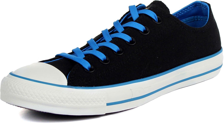 Converse Mens CT OX Black/Blue Basketball Shoes 10 Men US / 12 Women US