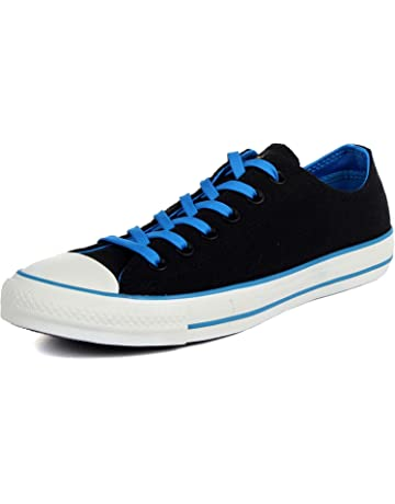 Converse - Chuck Taylor All Star Two Tone Ox Canvas Shoes in Black/Blue,