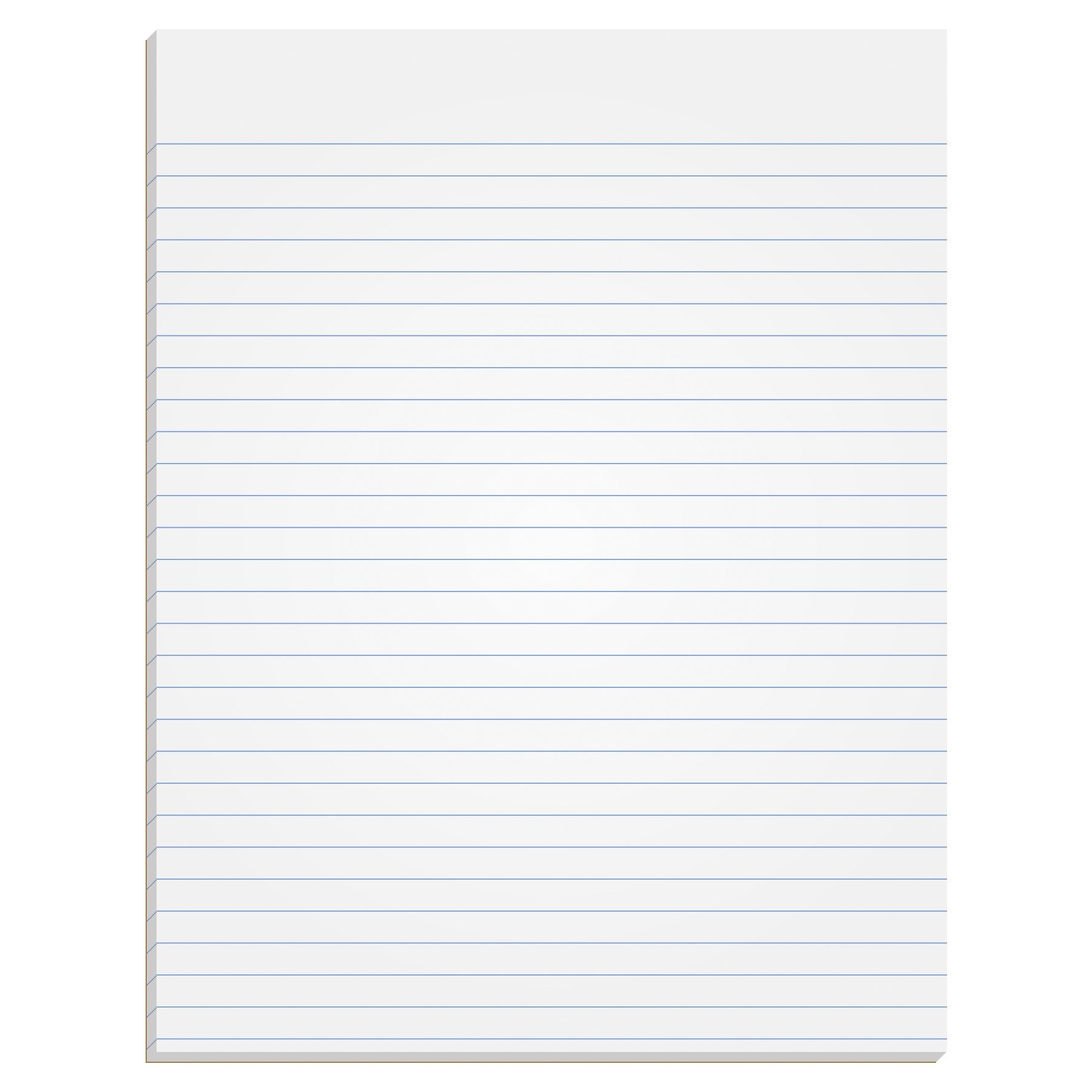 TOPS The Legal Pad Writing Pads, Glue Top, 8-1/2'' x 11'', Narrow Rule, 50 Sheets, 12 Pack (7529) by TOPS