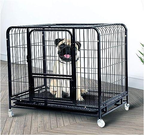 GDDYQ Jaula Pesada para Mascotas Fácil de Montar Caja para Perros Cerca de Perro con polea y Bandeja 94 × 64 × 83 cm: Amazon.es: Hogar