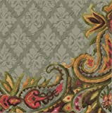 Cypress Home Vintage Pineapple Embossed Paper Luncheon Napkin, 20 count