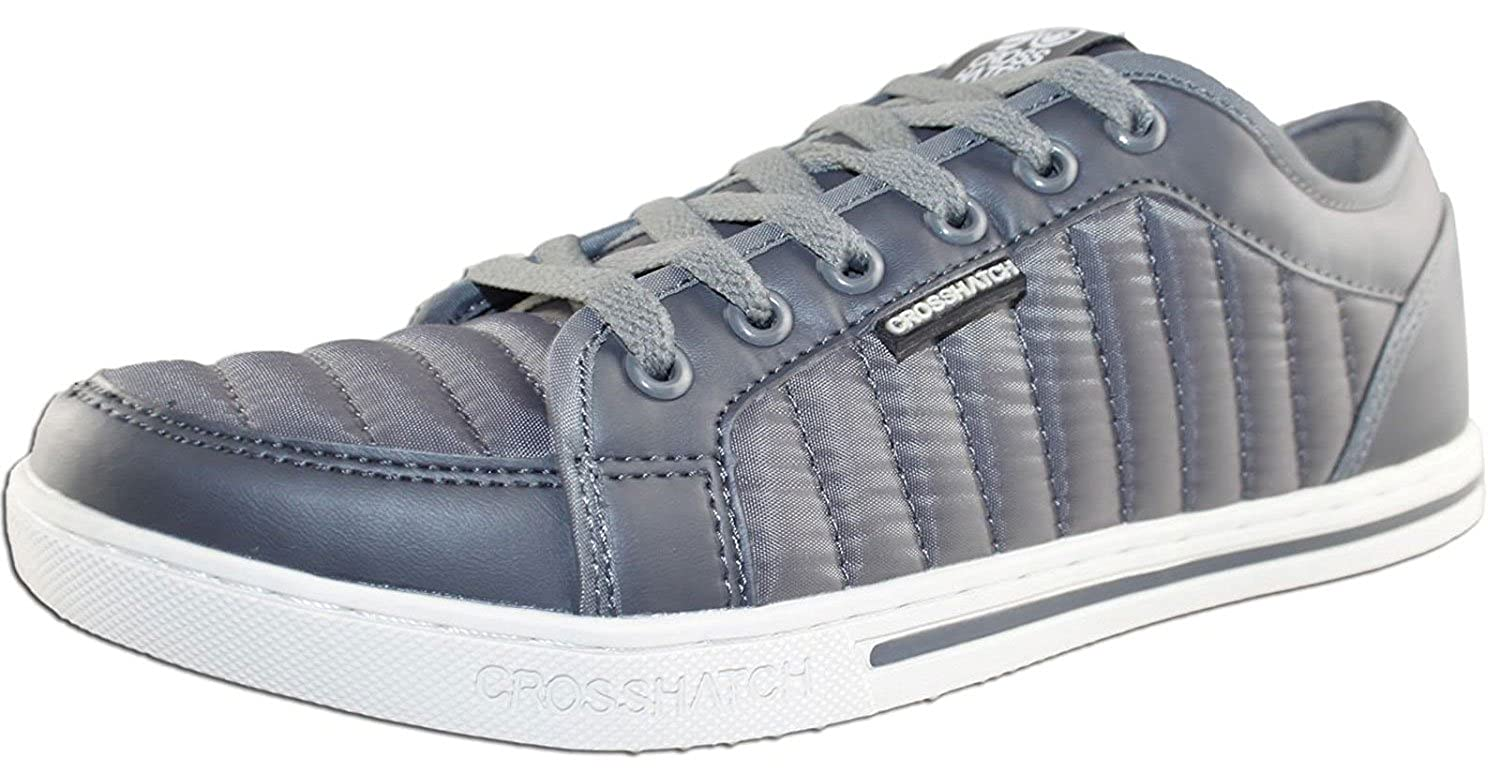 CrossHatch Mens Valmer Designer Quilted Trainers Turnschuhe UK Casual Casual Casual Joggers schuhe 743ca0