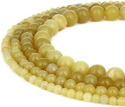 Lemon Jade Round Beads 10mm Yellow 38 Pcs Gemstones DIY Jewellery Making Crafts