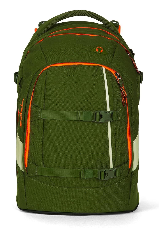 Fond of Bags - Set de útiles Escolares Verde Olive Olivgruuml;n Orange