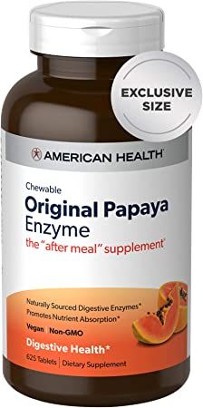 American Health Original Papaya Enzyme - Chewable Tablets - Promotes Nutrient Absorption and Helps Digestion - 625 Count