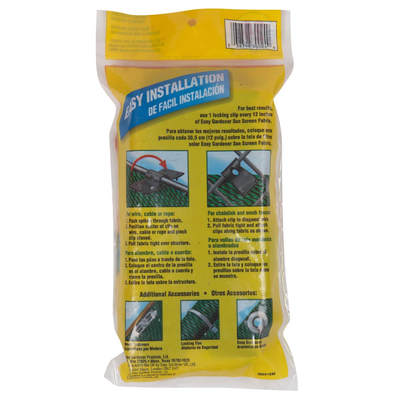 Amazon.com : Easy Gardener 70024 Locking Clips Sun Screen Accessory, 1 Unit : Easy Gardener Sun Screen Fabric : Garden & Outdoor