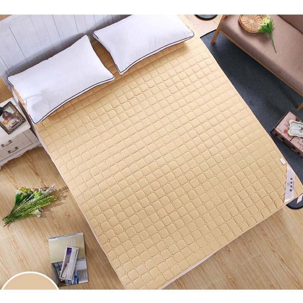 GJ Mattress Tatami Mat 1.8m1.5 Thin Section 1m0.9 Student Dormitory Scorpion Protection Mat 1.2m Economy (Color : Camel, Size : 100 x 200 cm)