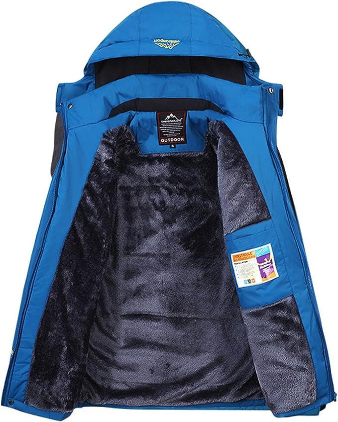 Sawadikaa Giacca da Donna Impermeabile Cappuccio Softshell Cappotto Giacca a Vento Invernale Manica Lunga Giacca Montagna