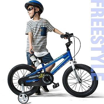 RoyalBaby Boys Girls Kids Bike BMX Freestyle 2 Hand Brakes Bicycles with Training Wheels Child Bicycle