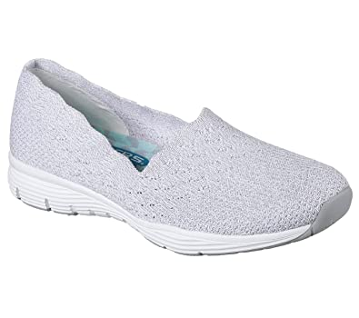 Amazon.com   Skechers Seager Stat Womens Slip On Loafers   Loafers & Slip- Ons