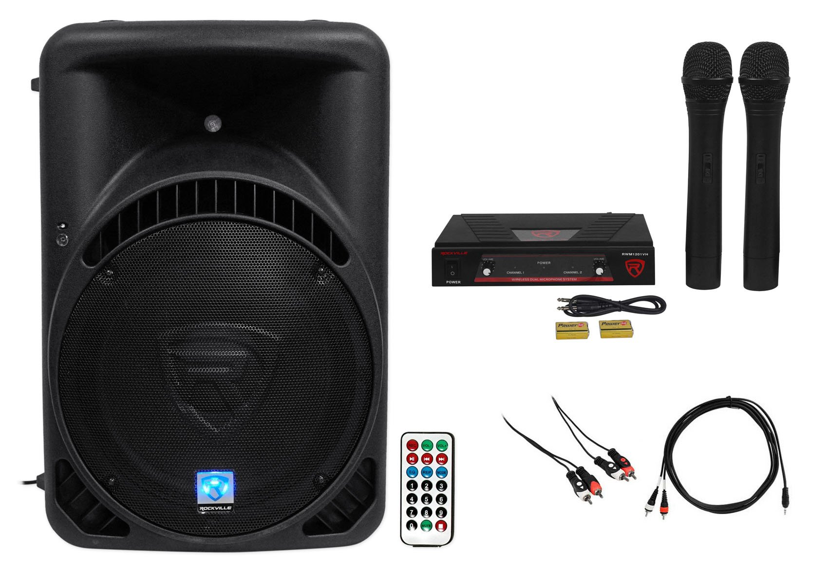 Rockville Powered 15'' iphone/ipad/Android/Laptop/T.V. Karaoke Machine/System