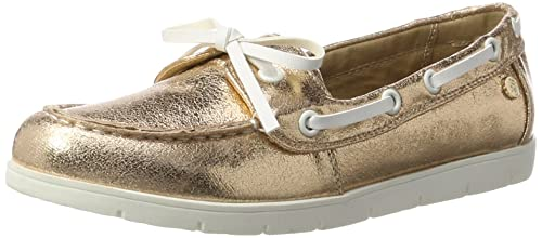 XTI Nude Metallic Ladies Shoes, Mocasines para Mujer, Rosa, 38 EU: Amazon.es: Zapatos y complementos