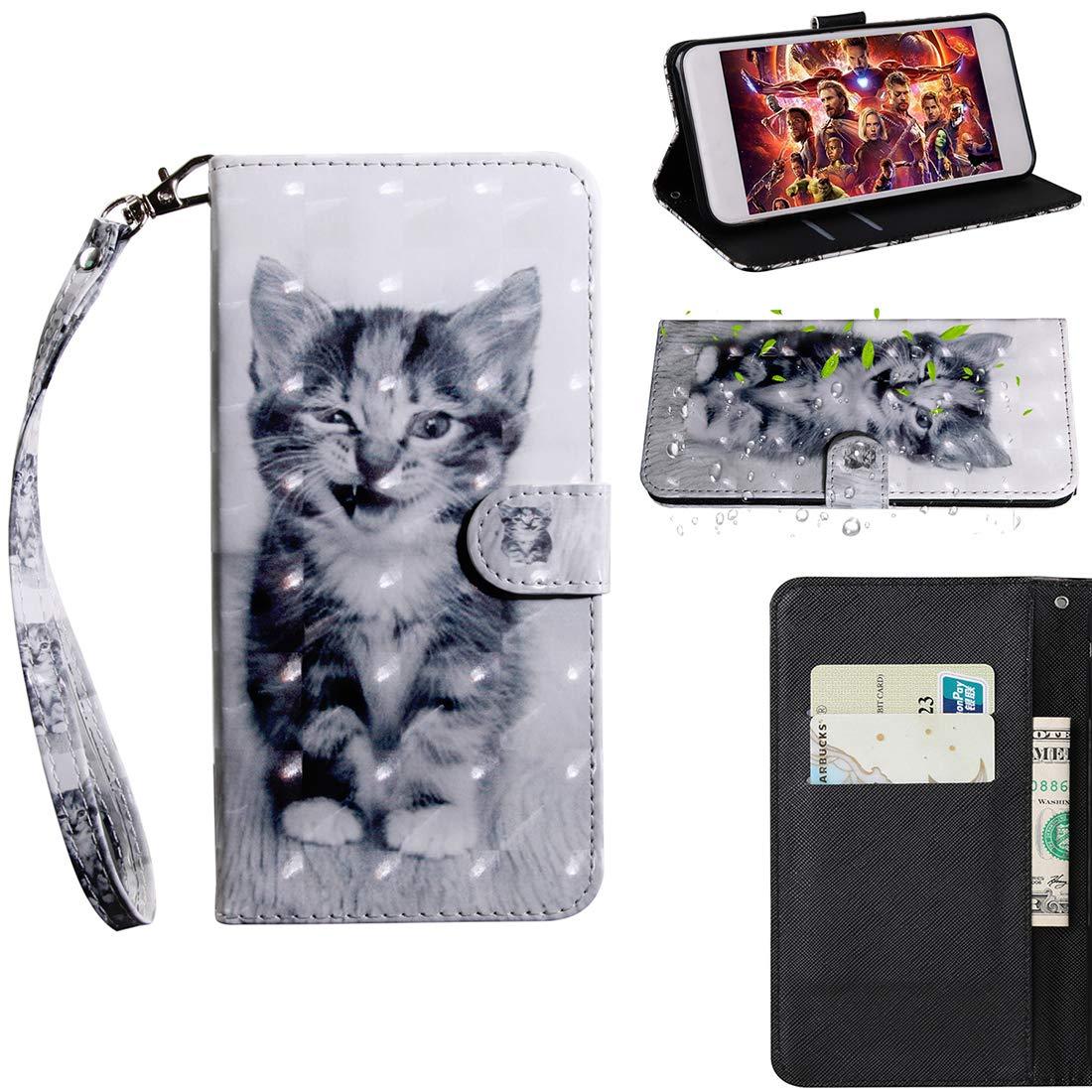 Lyzwn Custodia Nokia 6.1 / Nokia 6 (2018) Cases Flip in Pelle PU Cuoio Copertura Case Cover con Wallet Portafoglio Supporto Carte Chiusura Magnetica Caso Copertina per Nokia 6.1 / Nokia 6 (2018)