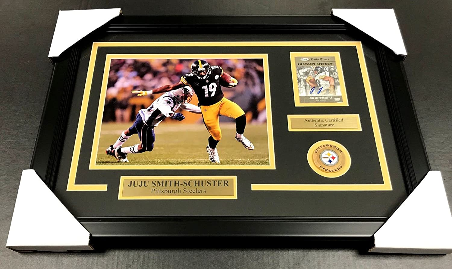 6b703423b6d JUJU SMITH SCHUSTER AUTOGRAPHED CARD AUTO FRAMED 8X10 PHOTO PITTSBURGH  STEELERS at Amazon s Sports Collectibles Store