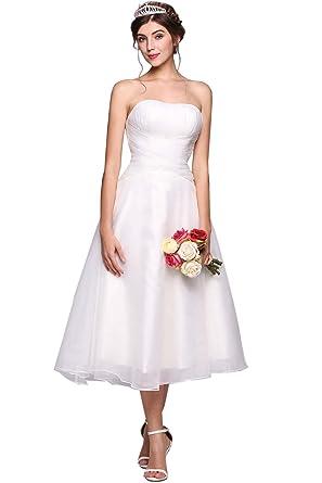 Yealsha Lace Wedding Dress Short Simple Wedding Dresses