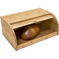 Relaxdays Boîte à Pain HxlxP : 16,5 x 40 x 27,5 cm cuisine en bois de Bambou avec Couvercle Coulissant, nature