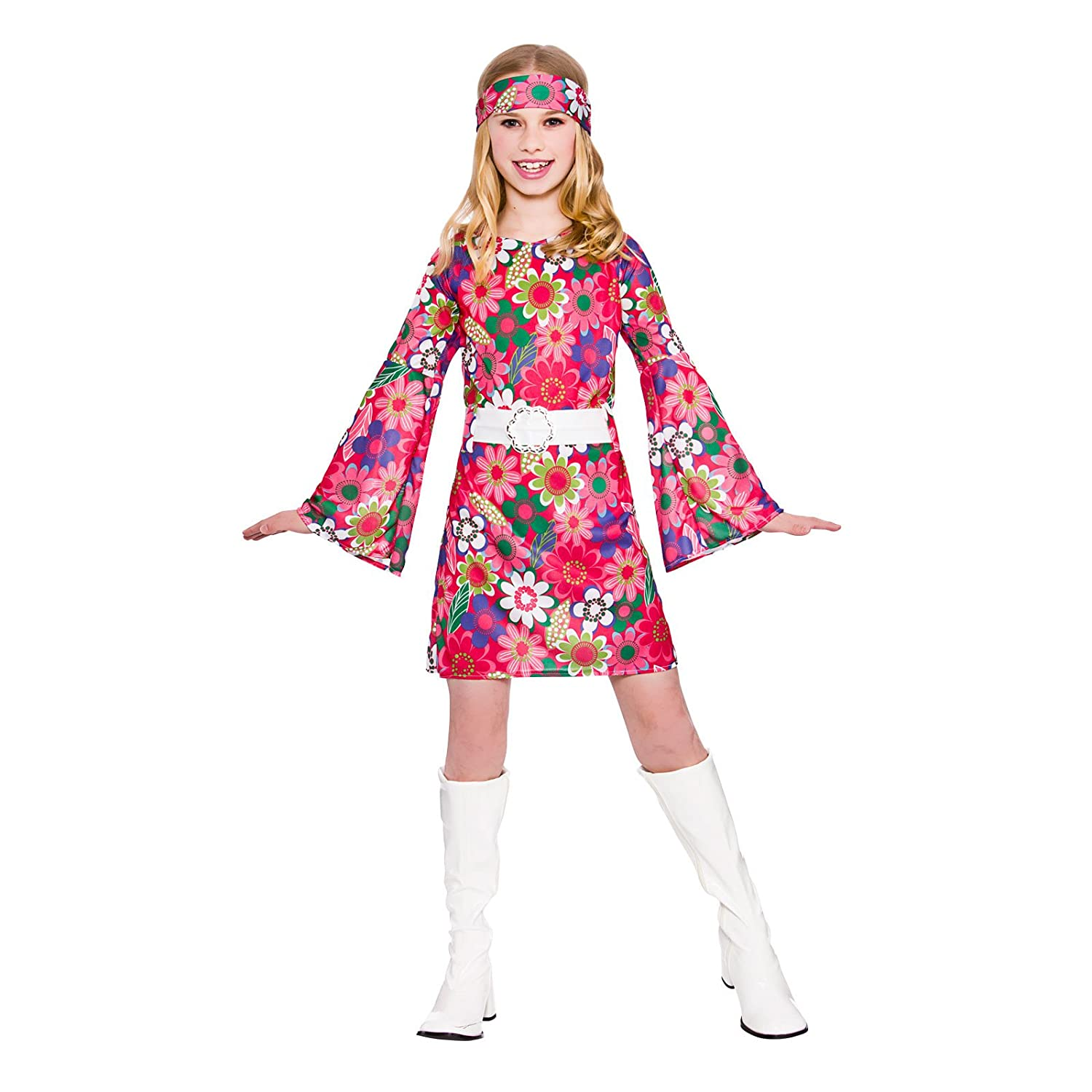 Girls Retro Go Go Girl Fancy Dress Up Party Costume Halloween Child ...
