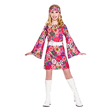 Girls Retro Go Girl Fancy Dress Up Party Costume Halloween Child 60s Outfit Amazoncouk Clothing