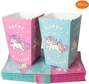 Amazon.com: sofire 20 piezas 2 colores Unicornio cajas de ...