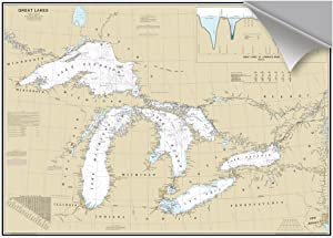 MAPTECH Great Lakes Decorative Nautical Chart