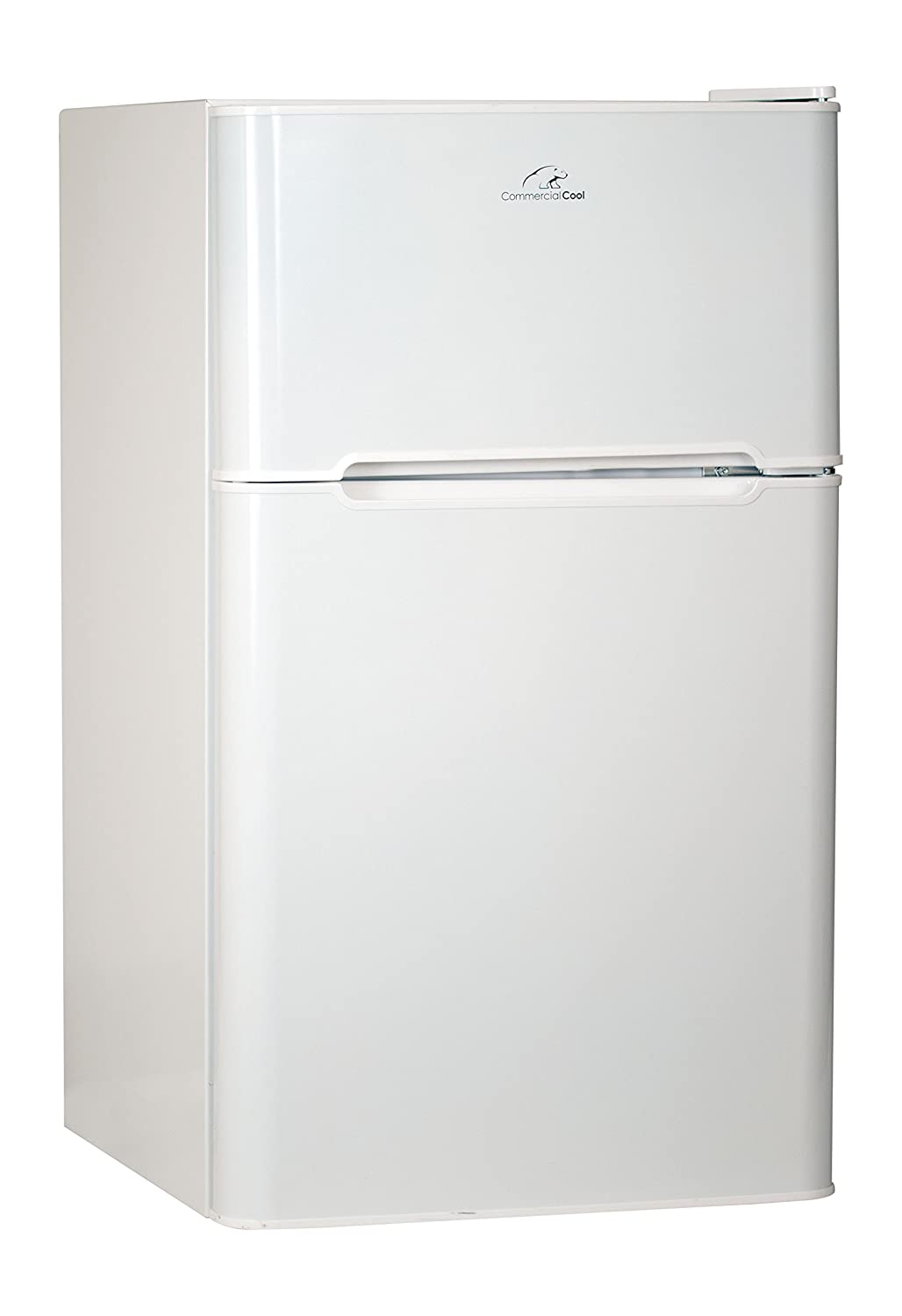 Commercial Cool CCRD32W Compact Double Door Refrigerator with True Freezer, 3.2 Cu. Ft. Mini Fridge, White
